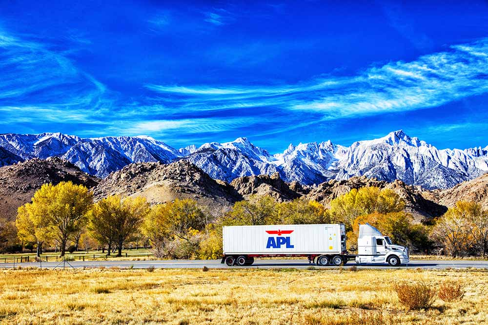 Reefer Container - APL refrigerated container on the move
