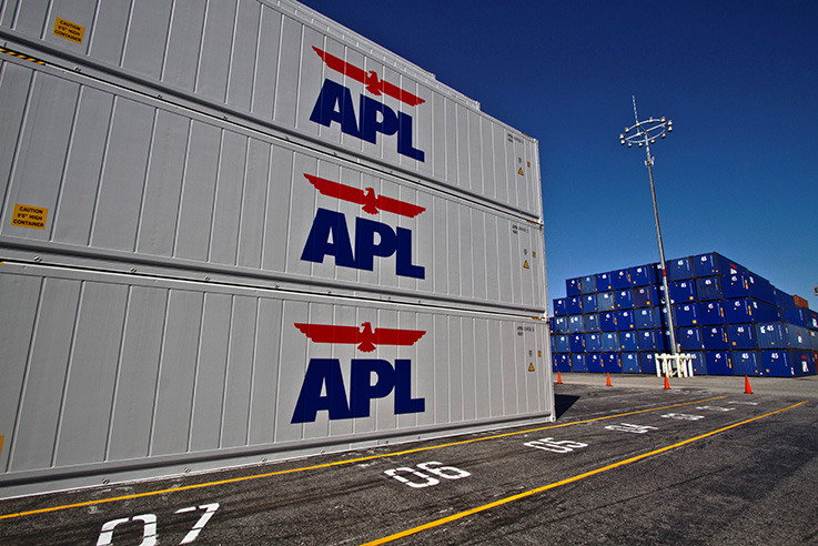 Reefer Container - Stacked APL refridgerated containers