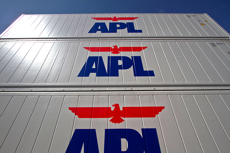 APL Vanda - Stacked APL refrigerated containers