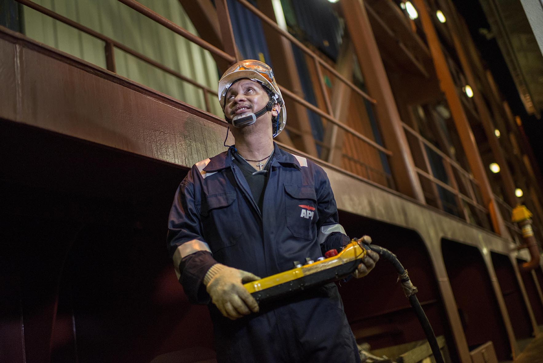 APL Seafarer - At work on board the APL vessel