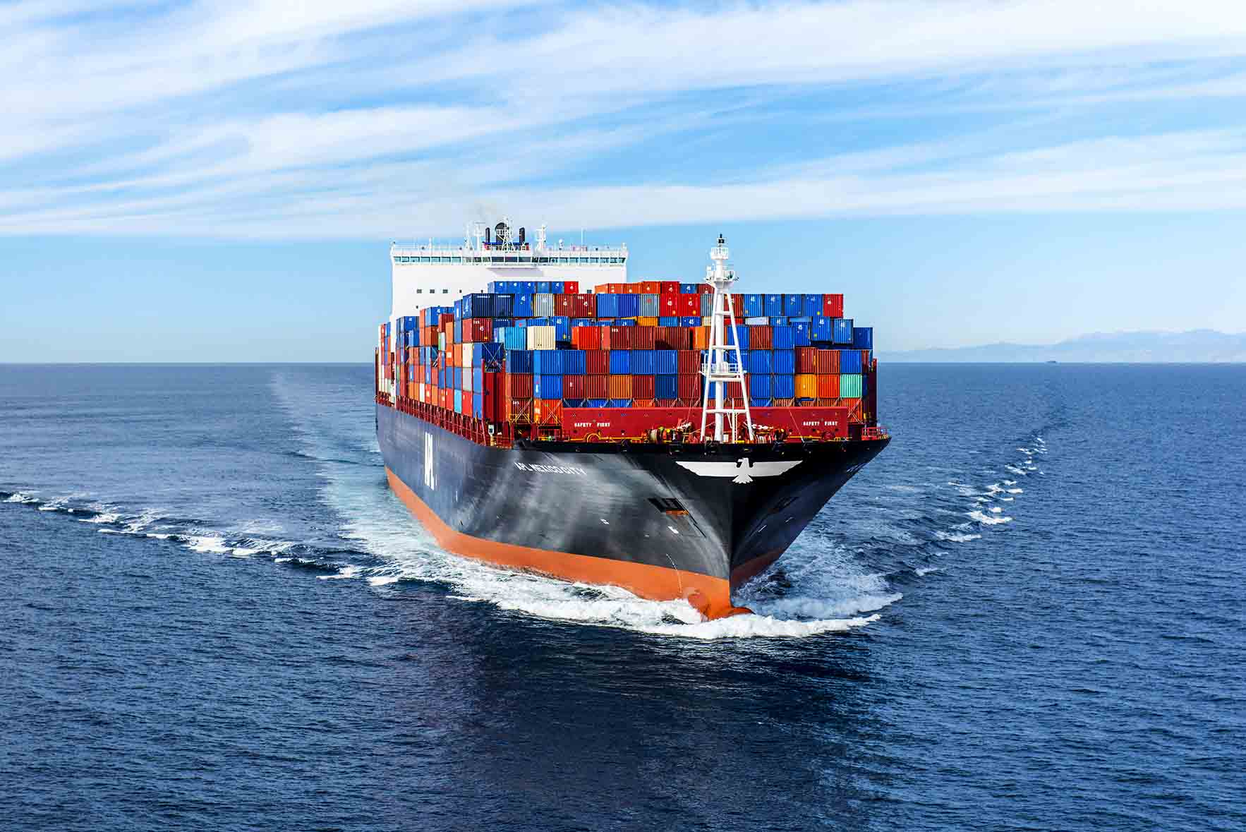 APL Mexico City - 9,000 TEU containership at sea (Los Angeles)