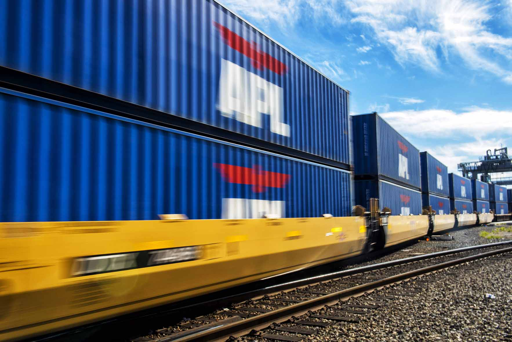 Double-stacked trains - Global Gateway South (GGS), Port of Los Angeles