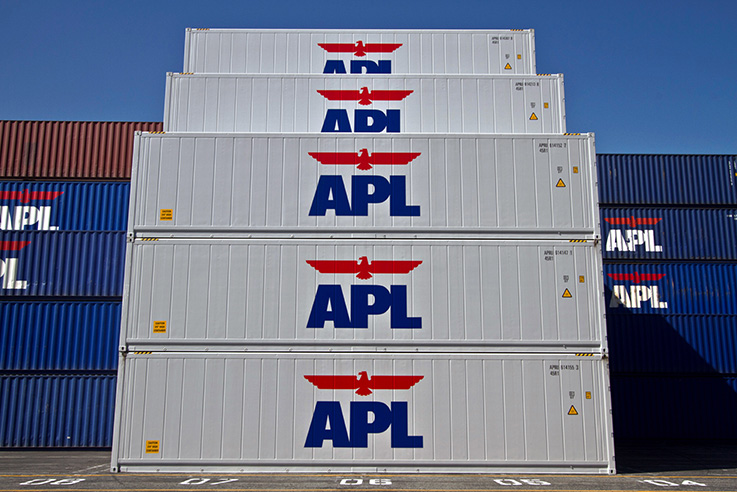 Reefer Container - Stacked APL refrigerated containers